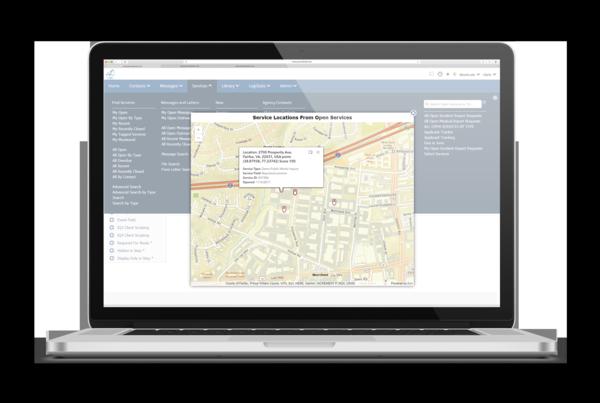 Screenshot of service tracking in IQ