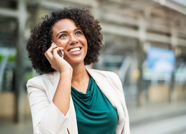 Image of a person on the phone